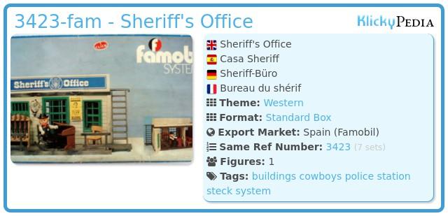 Playmobil 3423-fam - Sheriff's Office