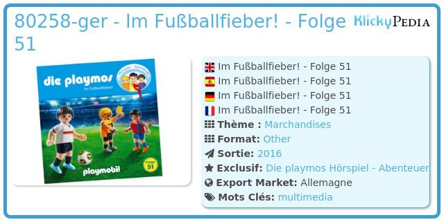 Playmobil 80258-ger - Im Fußballfieber! - Folge 51