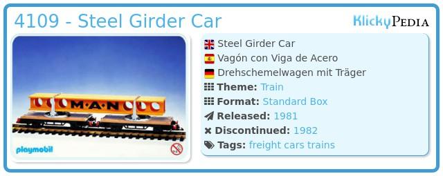 Playmobil 4109 - Steel Girder Car