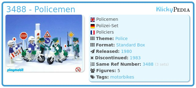 Playmobil 3488 - Policemen
