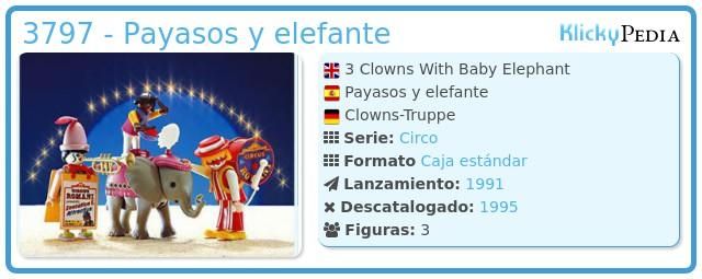 Playmobil 3797 - Payasos y elefante