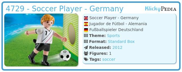 Playmobil 4729 - Soccer Player - Germany