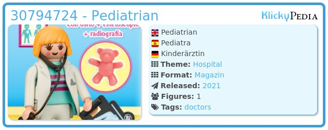 Playmobil 30794724 - Pediatrian