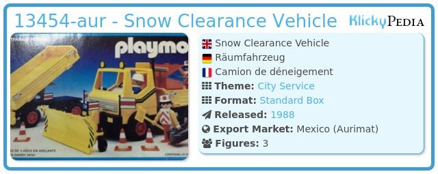Playmobil 13454-aur - Snow Clearance Vehicle