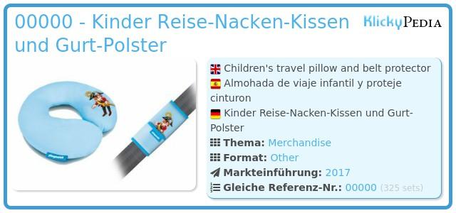 Playmobil 00000 - Kinder Reise-Nacken-Kissen und Gurt-Polster