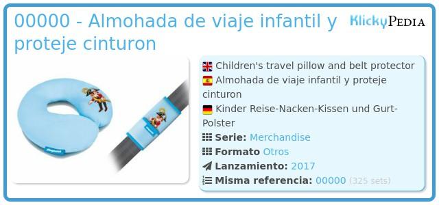 Playmobil 00000 - Almohada de viaje infantil y proteje cinturon