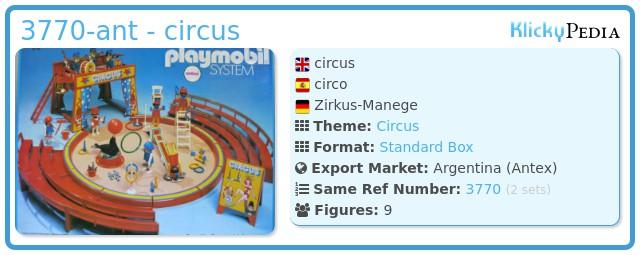 Playmobil 3770-ant - circus