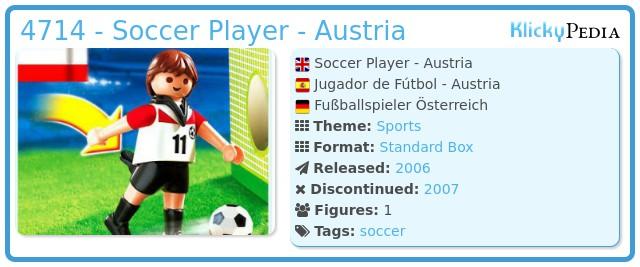 Playmobil 4714 - Soccer Player - Austria