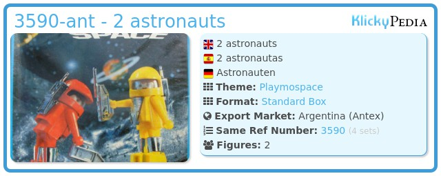 Playmobil 3590-ant - 2 astronauts