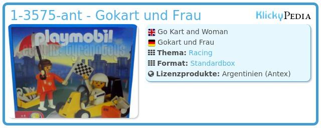 Playmobil 1-3575-ant - Gokart und Frau