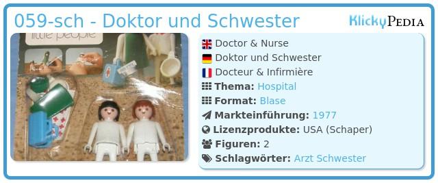 Playmobil 059-sch - Doktor und Schwester