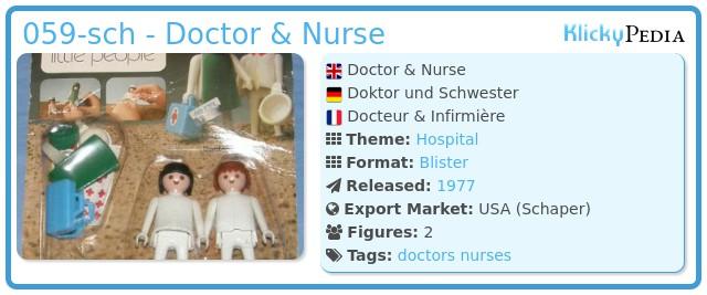 Playmobil 059-sch - Doctor & Nurse