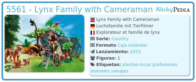 Playmobil 5561 - Lynx Family with Cameraman