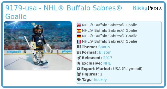 Playmobil 9179-usa - NHL® Buffalo Sabres® Goalie