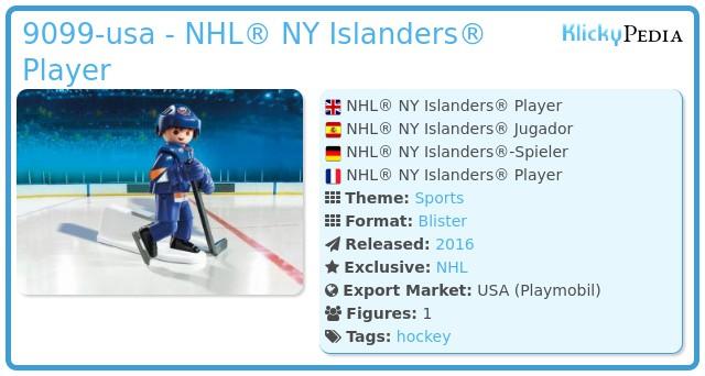 Playmobil 9099-usa - NHL® NY Islanders® Player