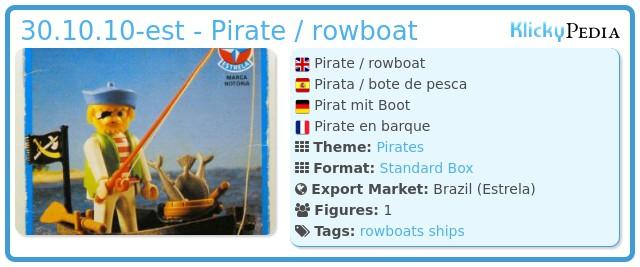 Playmobil 30.10.10-est - Pirate / rowboat