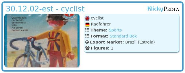 Playmobil 30.12.02-est - cyclist