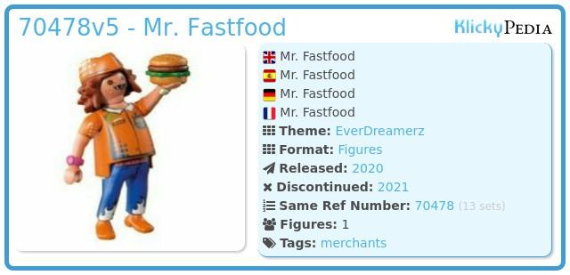 Playmobil 70478-05 - Mr. Fastfood