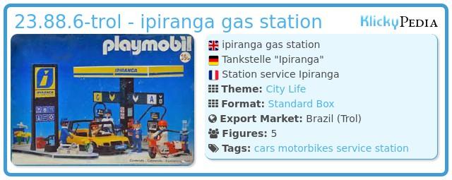 Playmobil 23.88.6-trol - ipiranga gas station
