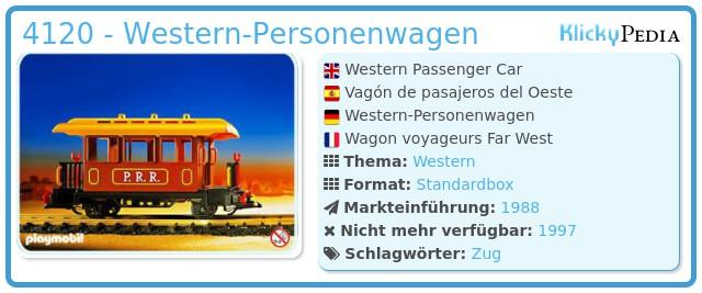 Playmobil 4120 - Western-Personenwagen