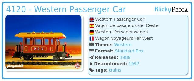 Playmobil 4120 - Western Passenger Car