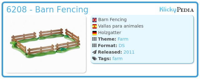 Playmobil 6208 - Barn Fencing