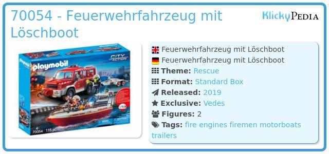 Playmobil 70054 - Feuerwehrfahrzeug mit Löschboot