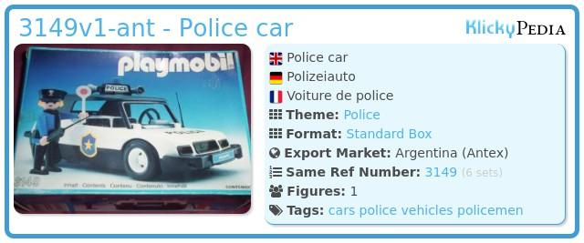 Playmobil 3149v1-ant - Police car