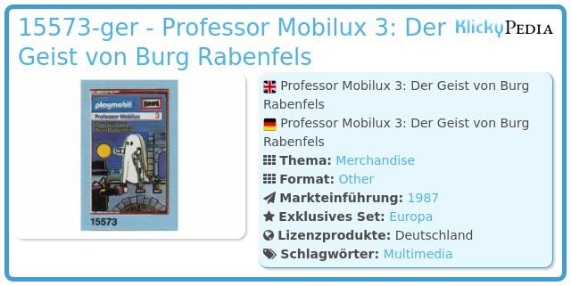 Playmobil 15573-ger - Professor Mobilux 3: Der Geist von Burg Rabenfels