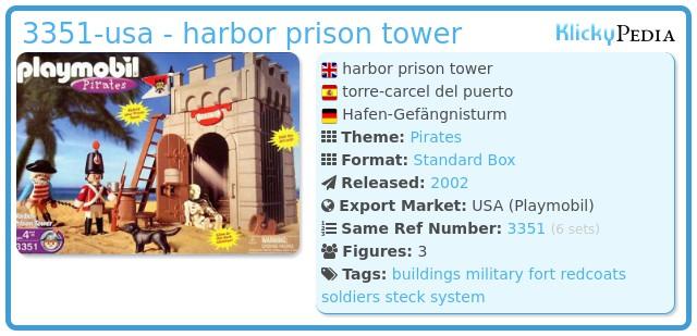 Playmobil 3351-usa - harbor prison tower