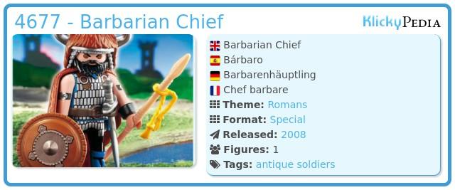 Playmobil 4677 - Barbarian Chief