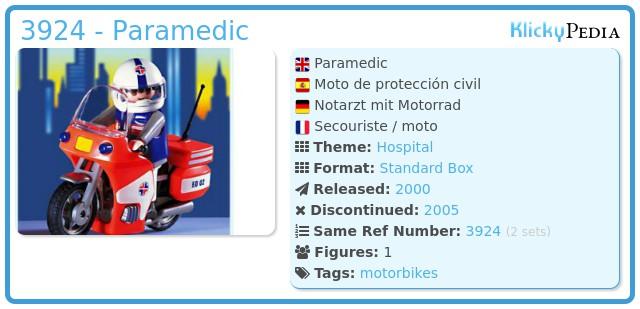 Playmobil 3924 - Paramedic