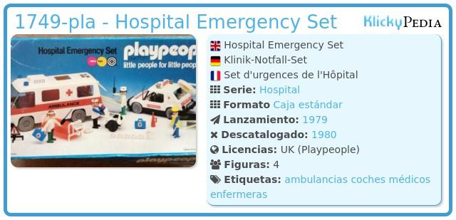 Playmobil 1749-pla - Hospital Emergency Set