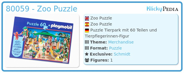 Playmobil 80059 - Zoo Puzzle