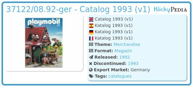 Playmobil 37122/08.92-ger - Catalog 1993 (v1)