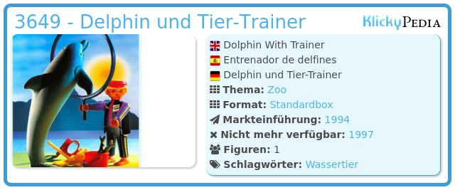 Playmobil 3649 - Delphin und Tier-Trainer