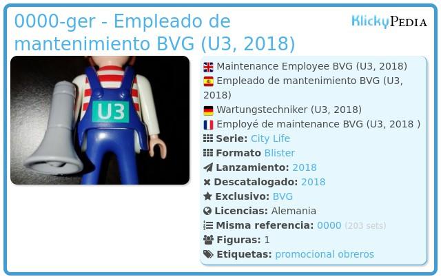 Playmobil 0000-ger - Empleado de mantenimiento BVG (U3, 2018)