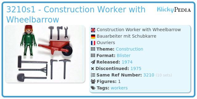 Playmobil 3210s1 - Construction Worker with Wheelbarrow