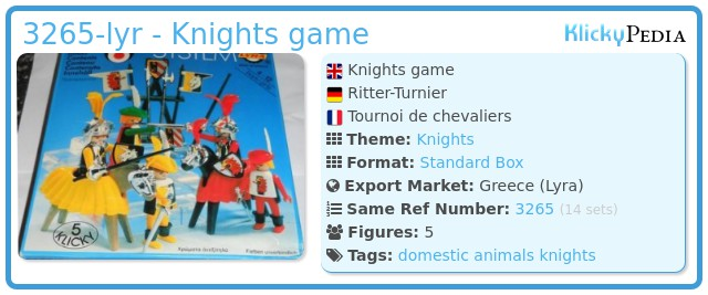 Playmobil 3265-lyr - Knights game