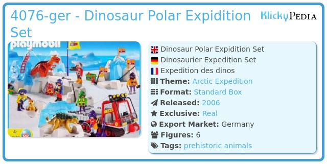 Playmobil 4076-ger - Dinosaur Combo Set