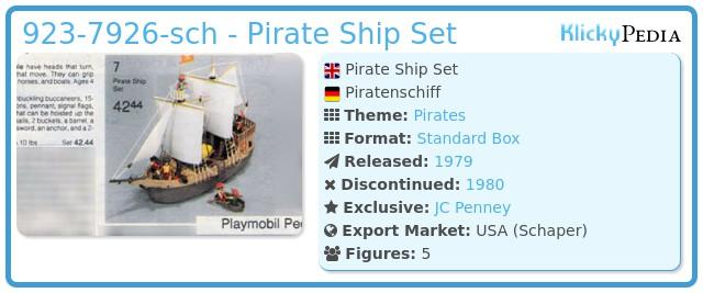 Playmobil 923-7926-sch - Pirate Ship Set