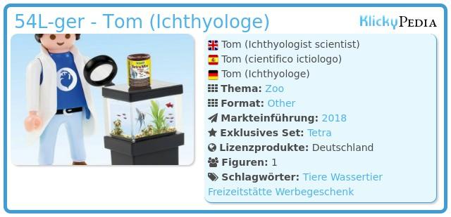 Playmobil 54L-ger - Tom (Ichthyologe)