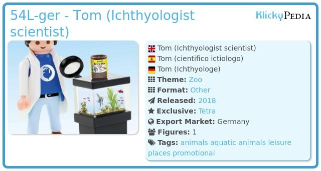 Playmobil 54L-ger - Tom (Ichthyologist scientist)