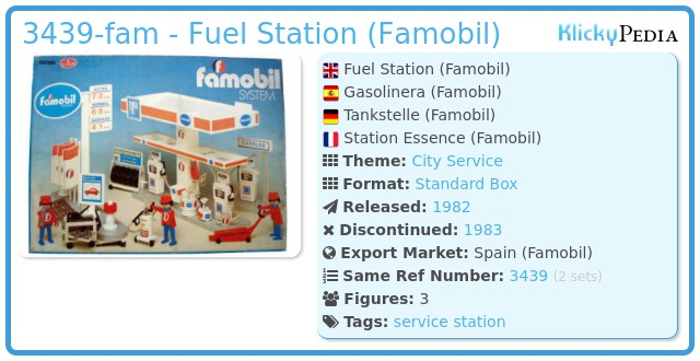 Playmobil 3439-fam - Fuel Station (Famobil)