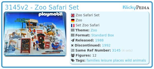 Playmobil 3145v2 - Zoo Safari Set