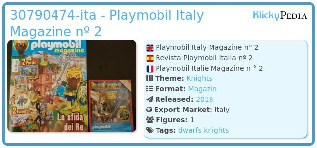 Playmobil 30790474-ita - Playmobil Italy Magazine nº 2