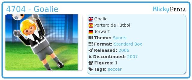 Playmobil 4704 - Goalie