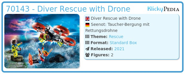 Playmobil 70143 - Diver Rescue with Drone