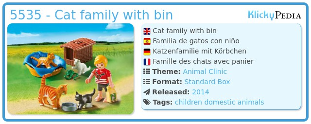 Playmobil 5535 - Cat family with bin