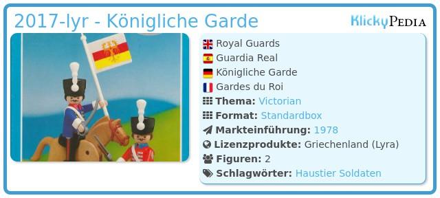 Playmobil 2017-lyr - Königliche Garde